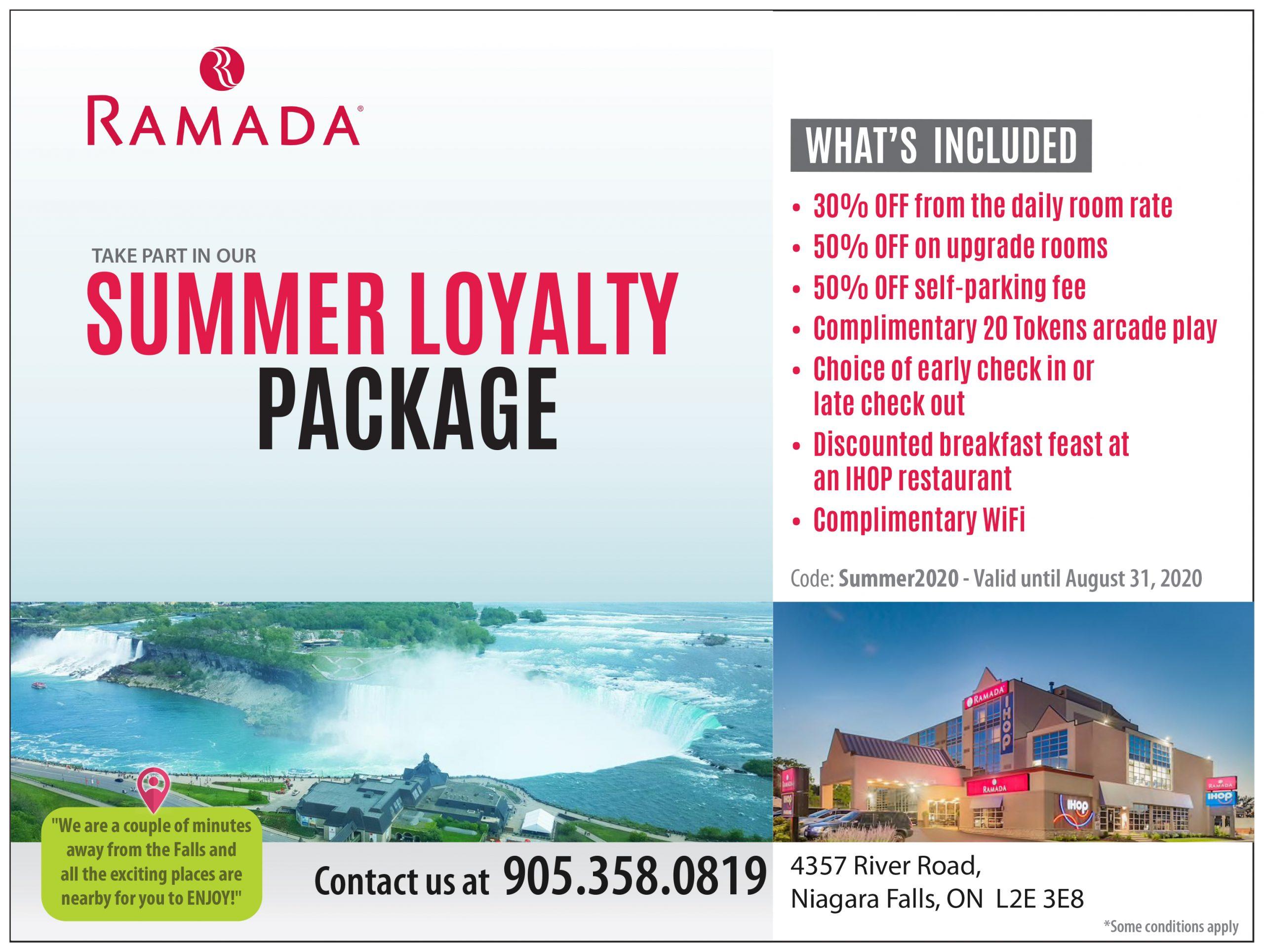 Ramada Inn Summer Sales
